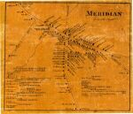 Cayuga Co Meridian Village Map of 1859