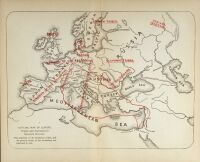 Western Europe Crusades Map 1045 AD